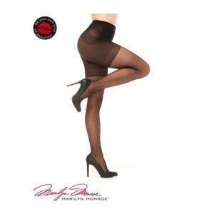 Marilyn Monroe | Control Top Sheer Black Pantyhose